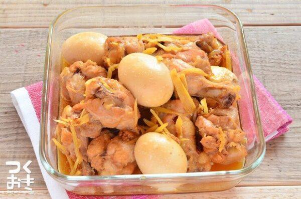 人気のレシピに!美味しい鶏手羽元と卵の煮込み