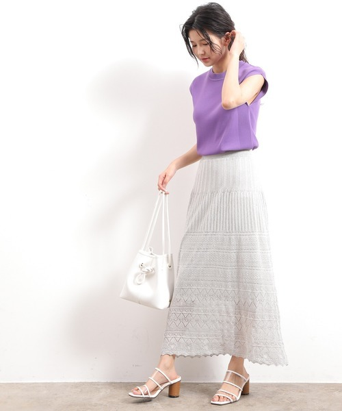 [ViS] 柄編みラメナロースカート