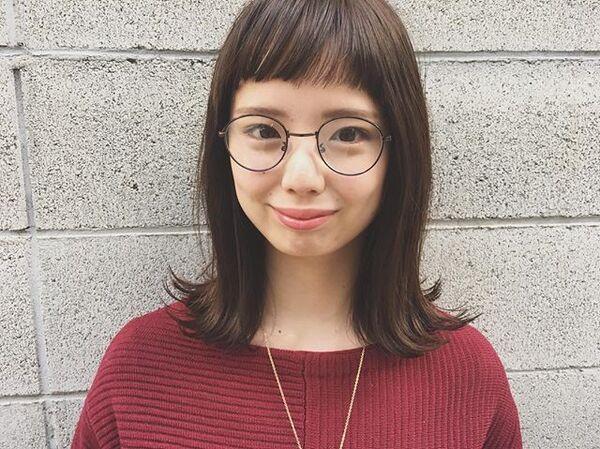 【2020秋トレンド前髪】ぱっつんバング3