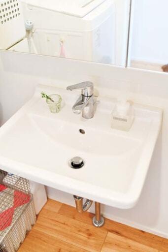 デュラビットの洗面ボウル+ハンスグローエの水栓