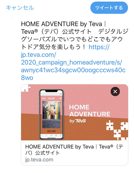 「HOME ADVENTURE by Teva」