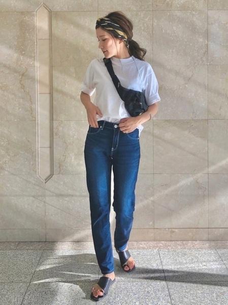 ユニクロ Tシャツ パンツコーデ1