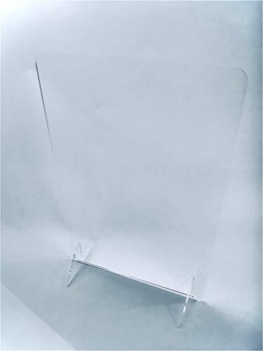 【日本製】 簡単組み立て 飛沫感染対策 新型コロナウイルス対策 アクリルパーテーション【縦500mmx横330mmx足幅150mm】板厚3.0mm 組み立て 飛沫遮断 デスク仕切り 飛沫防止アクリル パーテーション 卓上 透明 仕切り 間仕切り 飲食店 感染防止