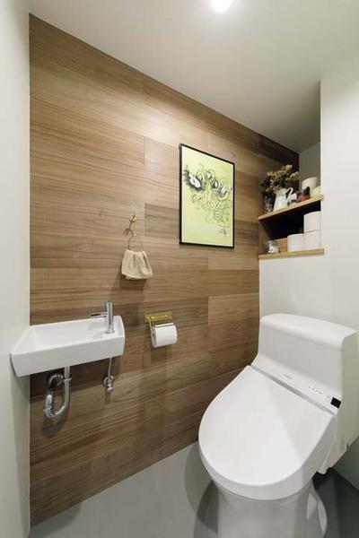 インテリアは無印良品の店舗を参考にしたトイレ