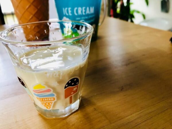 アイスクリーム柄グラス