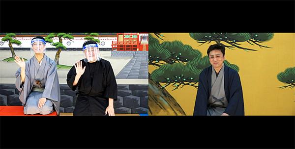 「アフタートーク」右から、松本幸四郎、市川猿弥、中村壱太郎