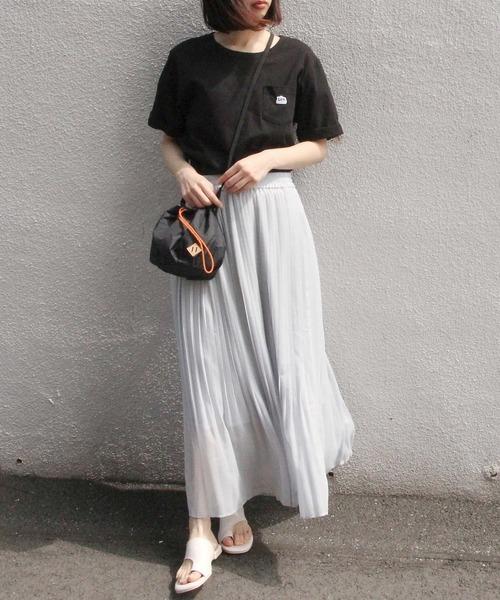 [ViS] ラメドビーフェードアウトプリーツスカート