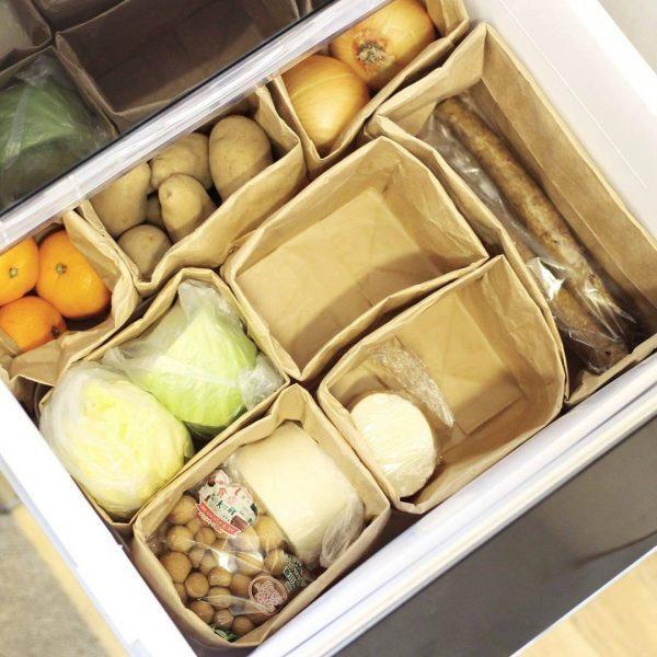 野菜室 整理整頓 アイデア2