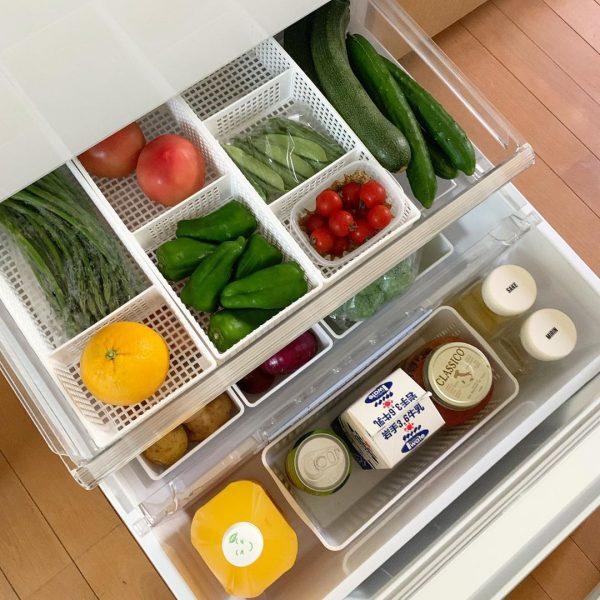 野菜室 整理整頓 アイデア9