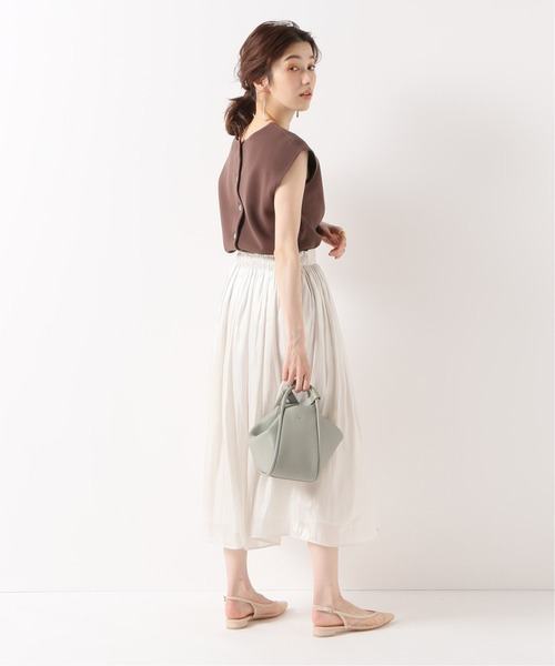 [Spick & Span] シャイニーギャザースカート◆