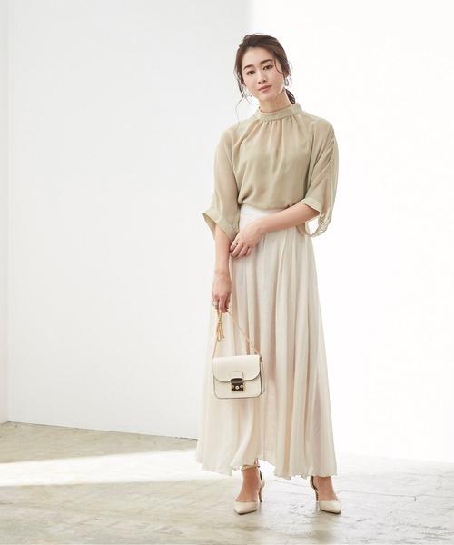 [ur's] スラブボリュームマキシスカート