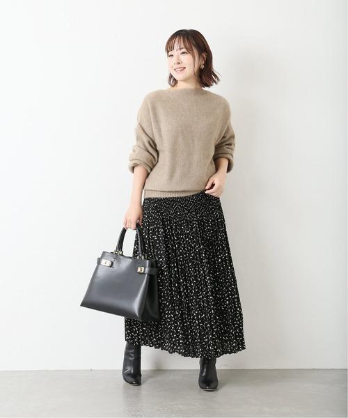 [La TOTALITE] プリントプリーツスカート【手洗い可能】◆