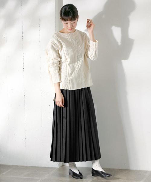 [かぐれ] ウールプリーツスカート
