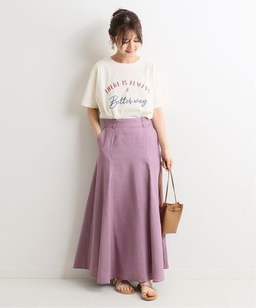 [IENA] ウォッシャブルフレンチリネン切り替えスカート◆