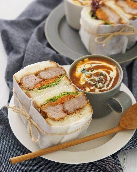 ボリューム満点洋食サンドイッチ!カツサンド