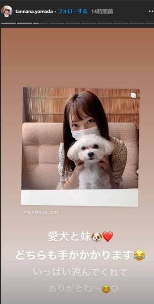山田菜々、妹・寿々の写真&動画を公開!「目元が似ている…」美人姉妹っぷりに驚き