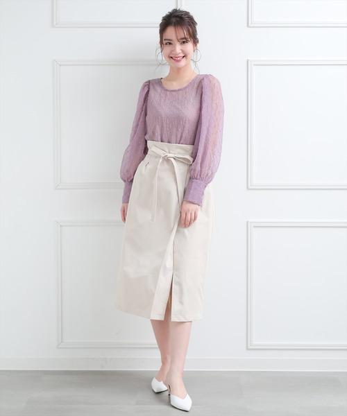 [clear] ≪2020SS新作≫ウエストリボンラップスカート