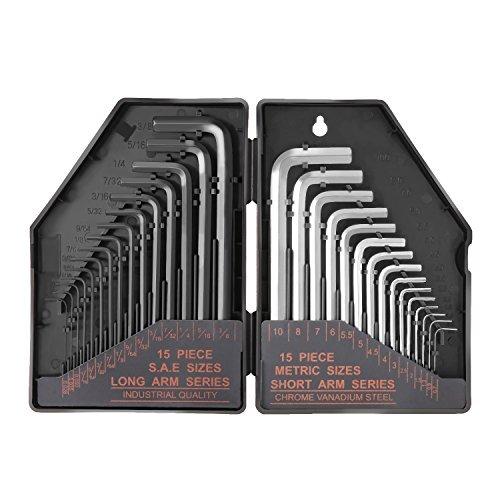 タックライフ 六角棒レンチセット HHW1A ネジ締め&緩め 黒 奥行19.8×高さ13.8×幅3.8cm 30pcs入り