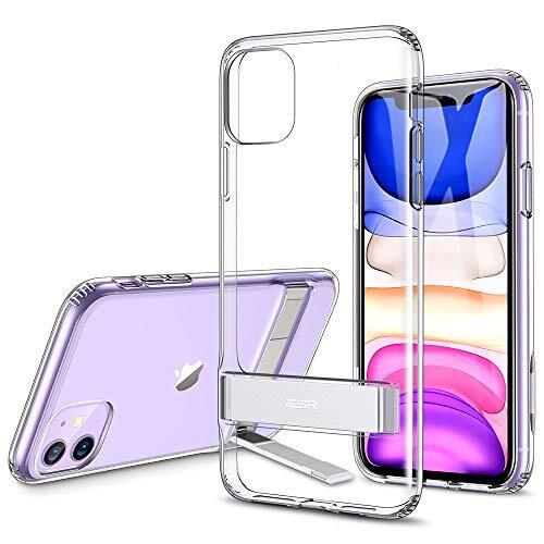 ESR iPhone 11 ケース アイホン 11 キックスタンドカバー ソフトバンパー【衝撃吸収 角度調節 全面保護 Qi急速充電対応 スタンド機能】 6.1インチ iPhone 11 專用スマホケース(クリア)