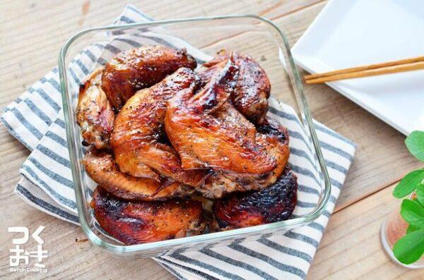 人気のレシピ!鶏手羽先のバルサミコソースグリル