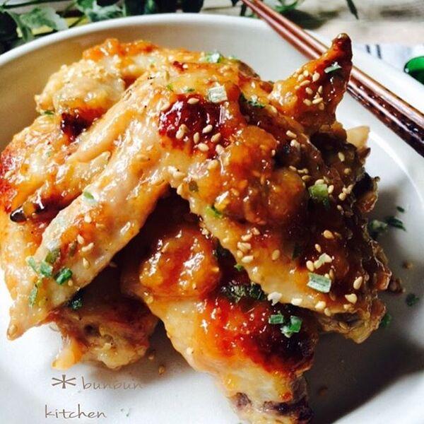 人気の美味しいレシピ!鶏手羽先の味噌炒め