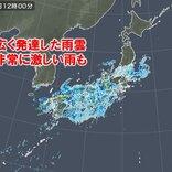 中国、四国から関東甲信にも発達した雨雲 大雨警報も