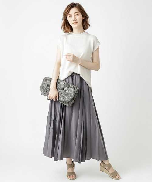 Aラインスカートの夏コーデ