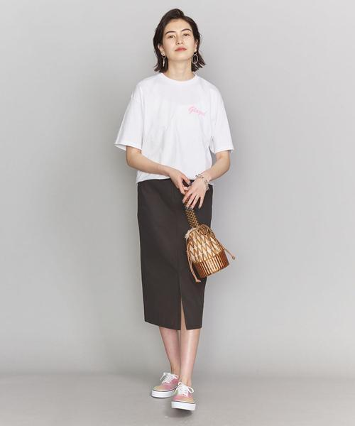 [BEAUTY&YOUTH UNITED ARROWS] BY コットンツイルフロントスリットタイトスカート