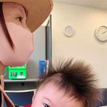 鈴木亜美、3歳長男が撮影した「絶妙な角度」の次男との2ショット公開に反響「素敵な写真」「イケメンだ」