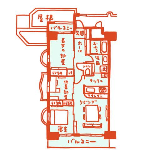 内山さん宅の間取り図