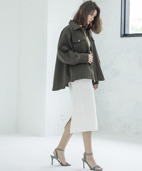[FREAK'S STORE] STYLE BAR/スタイルバー MILITARY DENIM TIGHT SKIRT/ミリタリーデニムタイトスカート