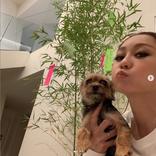 倖田來未、七夕の願い事と愛犬との自撮りSHOT公開に「女神様」「素敵なお願い事」