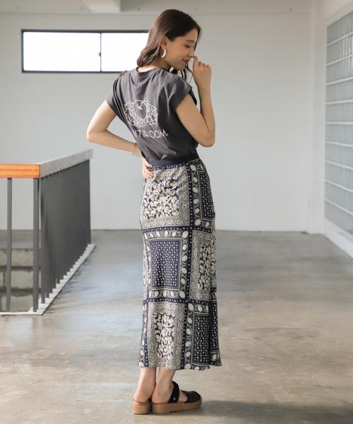 [mysty woman] バイアスマーメイドスカート 839625