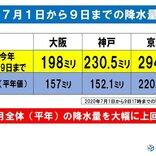 関西 すでに7月平年の降水量超え 週末はさらに増える
