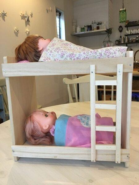 木材工作アイデアおもちゃのドールベッド
