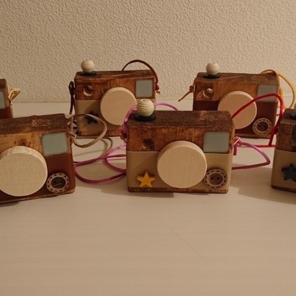 木材工作アイデアおもちゃの可愛いカメラ