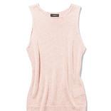 これから買うべき服2選|ピンクのノースリーブ&ブラウンのサテンスカート