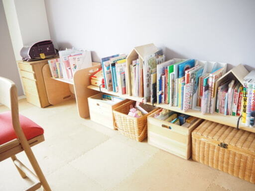 子どもの収納スペース