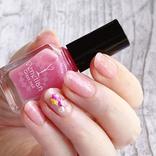 ピンク好き必見! キャンドゥ新作「ベネチアングラスネイル」のローザが可愛すぎる♡