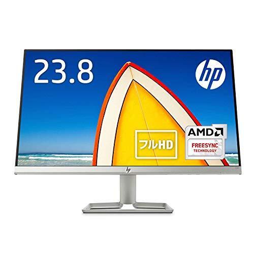 HP モニター 23.8インチ ディスプレイ フルHD 非光沢IPSパネル 高視野角 超薄型 省スペース スリムベゼル HP 24fw ホワイト (型番:3KS62AA#ABJ)