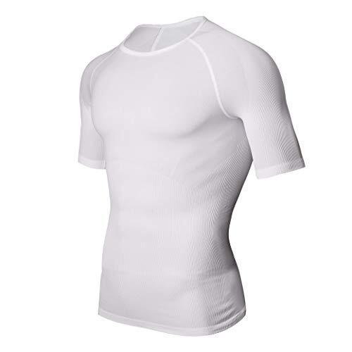 【強圧版】メンズ コンプレッションウェア 加圧シャツ メンズ 加圧インナー シャツ オールシーズン スポーツウェア ランニングウェア 半袖シャツ 通気防臭 吸汗速乾