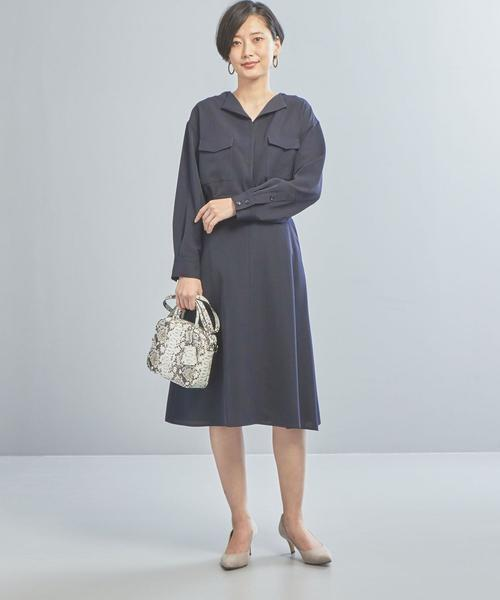 [green label relaxing] 【WORK TRIP OUTFITS】★WTO BC ツイルポケット付き ブラウス