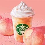 スタバから「ジューシー ピーチ フラペチーノ」がサプライズ登場!まるで白桃まるかじりの果肉感とみずみずしさ