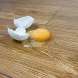 生卵をうっかり落として割ってしまったら…スッキリきれいになる掃除法はコレ!