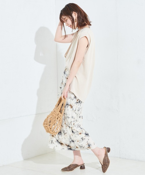 [natural couture] Aラインノースリーブチュニック