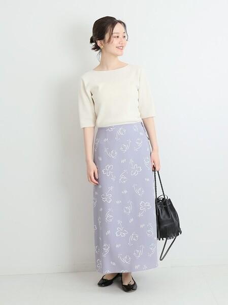 夏 オフィススタイル スカート2
