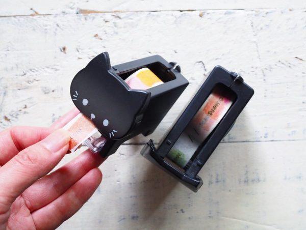 猫モチーフのマスキングテープカッター
