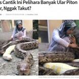 6匹の巨大なヘビをペットにする14歳少女(インドネシア)<動画あり>