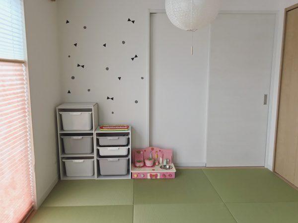 子供部屋の和室にも白い壁紙の内装