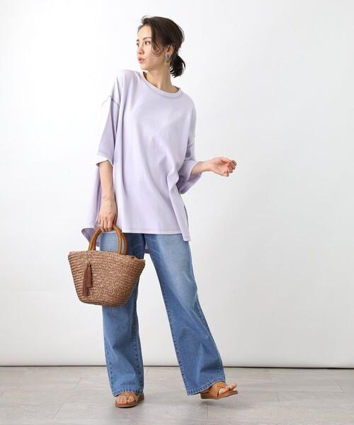 [FREAK'S STORE] 【一部WEB限定】ビッグシルエットステッチショートスリーブTシャツ(半袖Tシャツ)